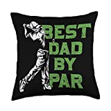 Golf Club Golfer Hobby Golfing Gifts Fathers Day Funny Golfer Dad Course Golf Throw Pillow, 18x18, Multicolor