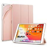 ESR iPad 10.2 ケース 第7世代 2019秋発売 TPU ソフトカバー 半透明 ラバーコーティング オートスリープ/ウェイク フレキシブルTPU背面 スタンドケース 鑑賞/タイピングスタンド iPad 10.2インチ 第七世代用 スリムスマートケース(ローズゴールド)
