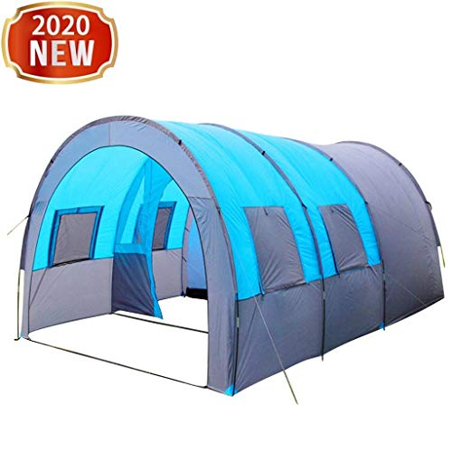 Camping Tent - 10 Person Family Tents for Outdoor BBQ Hiking Hunting Beach Travel, Double Layer Waterproof Windproof Tunnel Tent with 5 Large Mesh...