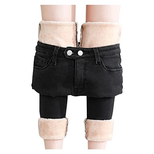 Jeans Damen Straight-High-Waist...