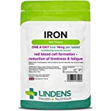 Lindens Iron 14mg Tablets | 360 Pack | Helps Reduce Tiredness & Fatigue