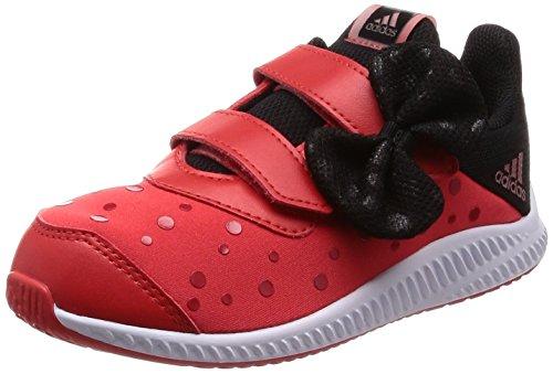 adidas Unisex Baby DY Minnie Fortarun Cloudfoam Sneaker, Rot (Hirere/Ftwwht/Cblack), 21 EU