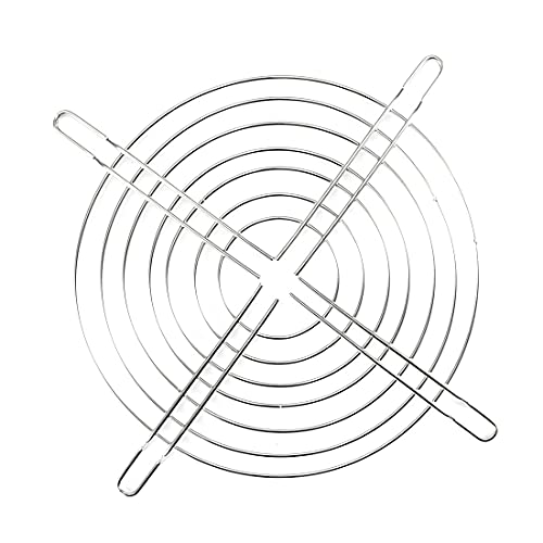 uxcell - Rejilla de refrigeración para ventilador (metal, 140 x 140 mm, para 140 x 140 mm, 5 unidades)