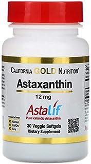 California Gold Nutrition, Astaxanthin, Triple-Strength, Natural, U.S. Sourced & Made, No GMOs, 12 mg, 30 Veggie Softgels