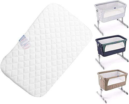 Comfortos Next to Me Culle Materasso adatto per bambini oltre alla culla, 83 cm x 50 cm x 5 cm, anallergico, non tessuto (bianca)