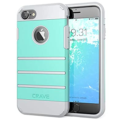 Crave iPhone 8 Case, iPhone 7 Case, Strong Guard Heavy-Duty Protection Case for Apple iPhone 8/7 (4.7 Inch) - Mint/Grey