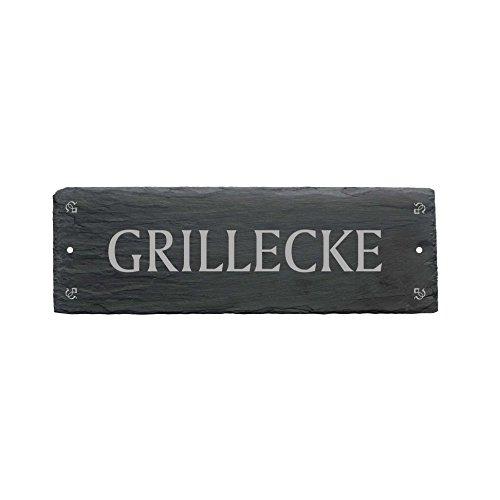 GRILLECKE Schild aus Schiefer - ca.22 x 8 cm