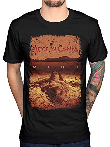 Alice In Chains Dirt Mens Black Cotton Top T-Shirt tee