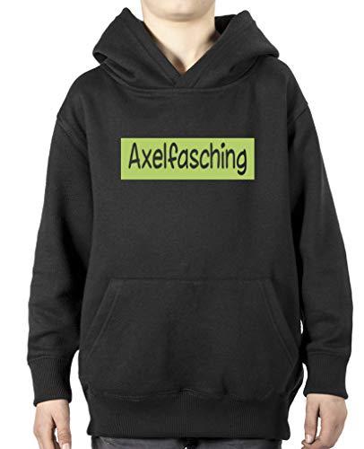Comedy Shirts Axelfasching Sweat-shirt à capuche pour garçon - Noir - 12 ans