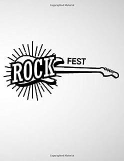 Rock Fest: 6 String Guitar Chord and Tablature Staff Music Paper for Guitar Players, beginner kids, Musicians, Teachers an...