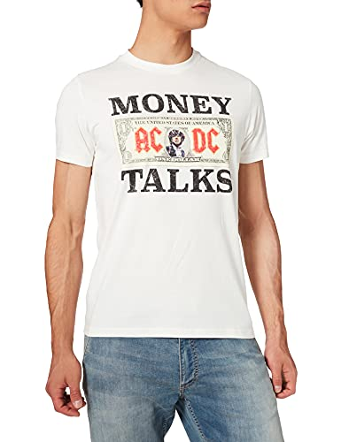 Springfield Camiseta ACDC Money, Marfil, S para Hombre