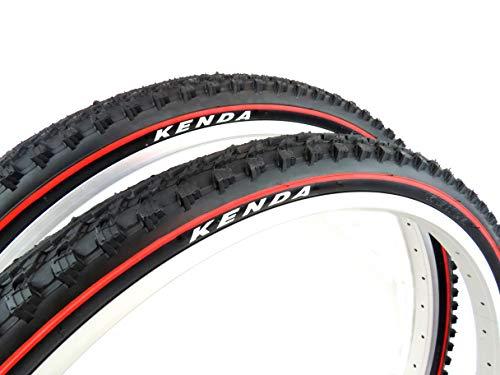 Pair of KENDA K898 red line MTB Bike Tyres, size 26 x 1.95, ETRTO 50-559