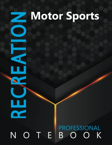 """Compare Textbook Prices for Recreation, Motor Sports Ruled Notebook, Professional Notebook, Writing Journal, Daily Notes, Large 8.5"""" x 11"""" size, 108 pages, Glossy cover  ISBN 9798496626620 by ProSportz Cre8tive Press"""
