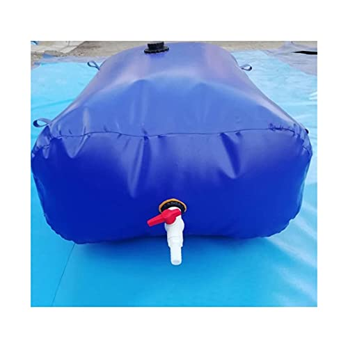 SHIJINHAO Contenedor Portador De Agua De Gran Capacidad para Exteriores, Bolsa De Agua De Emergencia Portátil Resistente Al Desgaste con Grifo (Color : Blue, Size : 470L/1.3x0.9x0.4M)