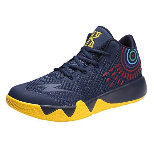 Basketballschuhe für Herren/Skxinn Unisex Outdoor Sneakers Turnschuhe Sportschuhe Wanderschuhe rutschfest Footwear Tennischuhe Sneaker Laufschuhe Ausverkauf(Dunkelblau,39 EU)