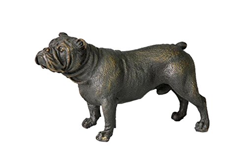 Toperkin TPAL-093 French Bulldog Outdoor Dog Garden Statue, 3' H, Bronze