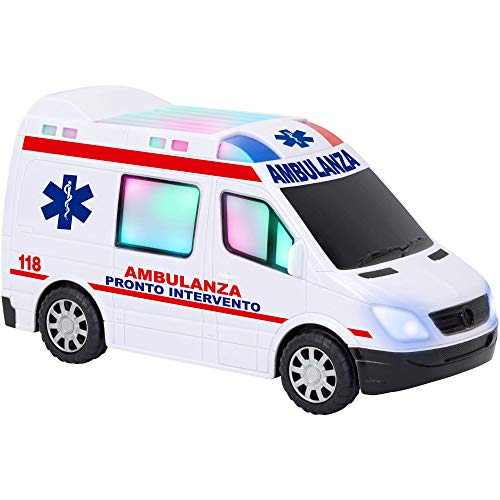 w' Toy – Ambulancia B/O Movimiento mistero Luces Sonidos, 38188