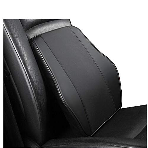 Lumbar Back Support Pillow for Car,Ergonomic Memory Foam Backrest Seat Cushion for Office Chair, Car, Fits Most Seats,Back Pain Relief (Back Support /Black)