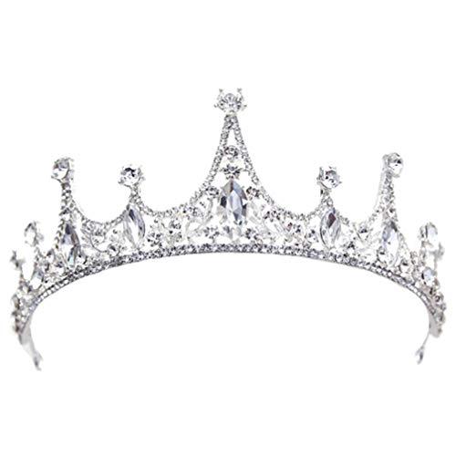 Lurrose Corona Nupcial Coronas de Tiara de Cristal Mujeres Diademas de Diamantes...