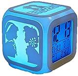 BRFDC Reloj Despertador Reloj Despertador 3D Estéreo Silencio...