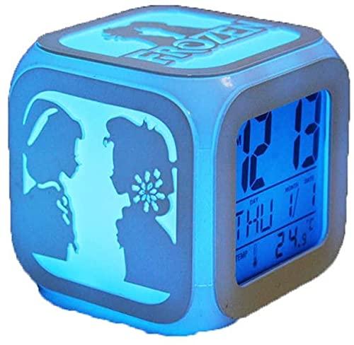 despertador digital infantil Reloj Despertador Silencioso Estéreo 3D 7 Colores Luz Nocturna LED Pantalla Electrónica Reloj Despertador Digital, Decoración De La Cabecera De La Habitación De Los Niños
