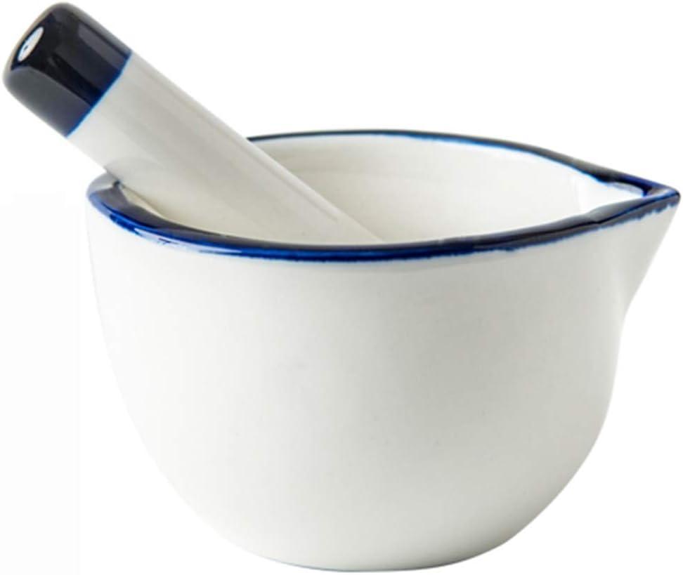 Porcelain Mortar And Pestle Max 81% OFF Set Traditional Manual Garl Grinding wholesale