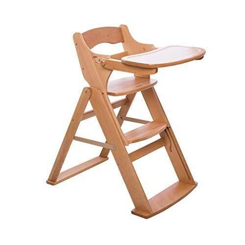 YDHYYDQCFJL Baby Kinderstoel - Baby Eetstoel Opvouwbare Baby Kinderstoel Houten Voeding Stoel Verstelbare Draagbare