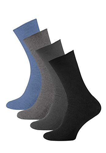 VCA 8 Paar Herren Diabetiker Socken, Ohne Gummibund, Baumwolle, Spitze handgekettelt, Gr. 43-46