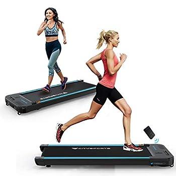 CITYSPORTS Treadmills for Home Under Desk Treadmill Walking Pad Treadmill with Audio Speakers Slim & Portable Treadmill with Remote & Dual LED Display Office & Home Treadmills