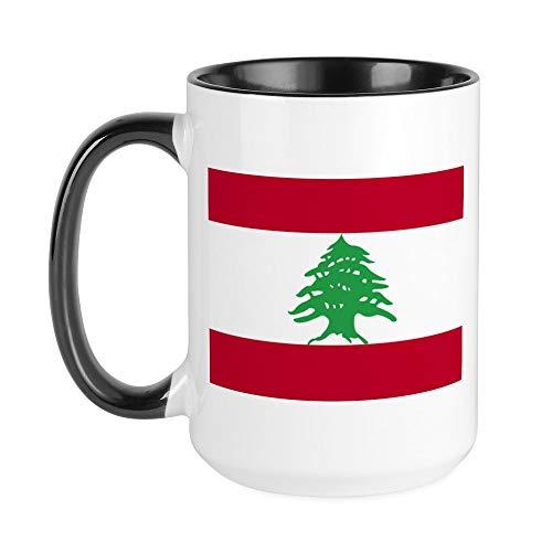 CafePress Kaffeetasse, Flagge, groß, 425 ml, Weiß, keramik, Innen weiß/schwarz, Large