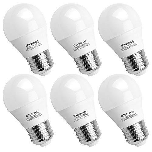 Kakanuo Lampadina LED G45 E27 6W Bianco Caldo 2700K 600 Lumen Pari a Lampadine Alogena da 60W AC 85-265V Non-Dimmerabile 6 Pezzi