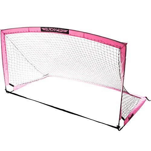 "Franklin Sports Blackhawk Portable Soccer Goal - Pop-Up Soccer Goal and Net - Indoor or Outdoor Soccer Goal - 6'6"" x 3'3"" - Pink, Model Number: 31569X"