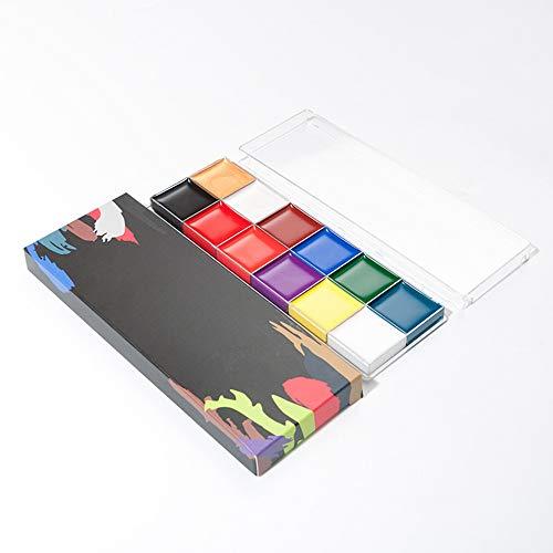 Face Paint Paint Professional 12 colori flash viso pittura ad olio Art Makeup Palette Set