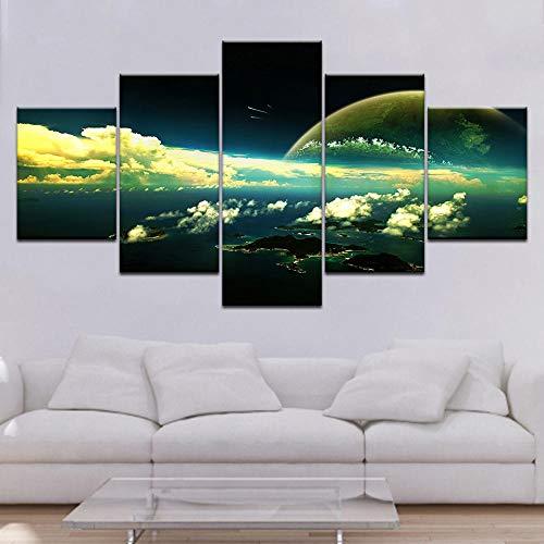 Yftnipl 5 Piezas Lienzo Poster Hd Nube Cielo Estrellado Original Arte De La Pared Impresa Decoración Dormitorio El Hogar Pintura De La Lona Foto