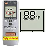 YING RAY Replacement for Fujitsu Air Conditioner Remote Control for Model AR-FB2 (Display in Fahrenheit)