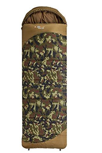 OZtrail Lawson Tactix Schlafsack mit Kapuze SBA-LTH-C 80x230cm 1.6kg Minimale Temperaturbewertung: -5°C. Tarnungschlafsack. Tarnung Schlafsack.