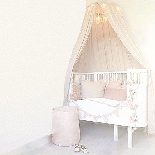Cúpula Redonda Que cuelga la Cama del Pesebre de la Cama Mosquitera Que empaqueta la Cortina del toldo para la decoración casera del niño del bebé(Caqui)