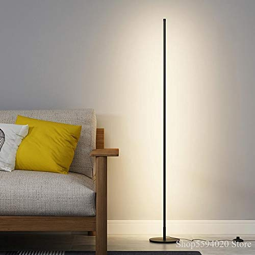YINGGEXU Lámpara de pie LED minimalista Lámpara de pie Dormitorio Sala de estar Ambiente Lámpara Vertical Control Remoto Regulación Lámpara de pie Luz Soporte (Color del cuerpo: Luz neutra)