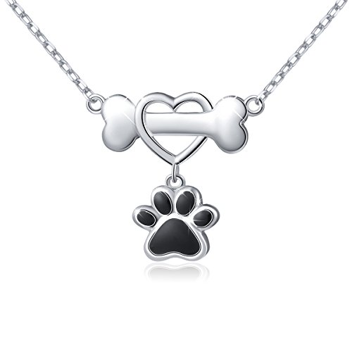 Cute Paw Print Pendant Necklace