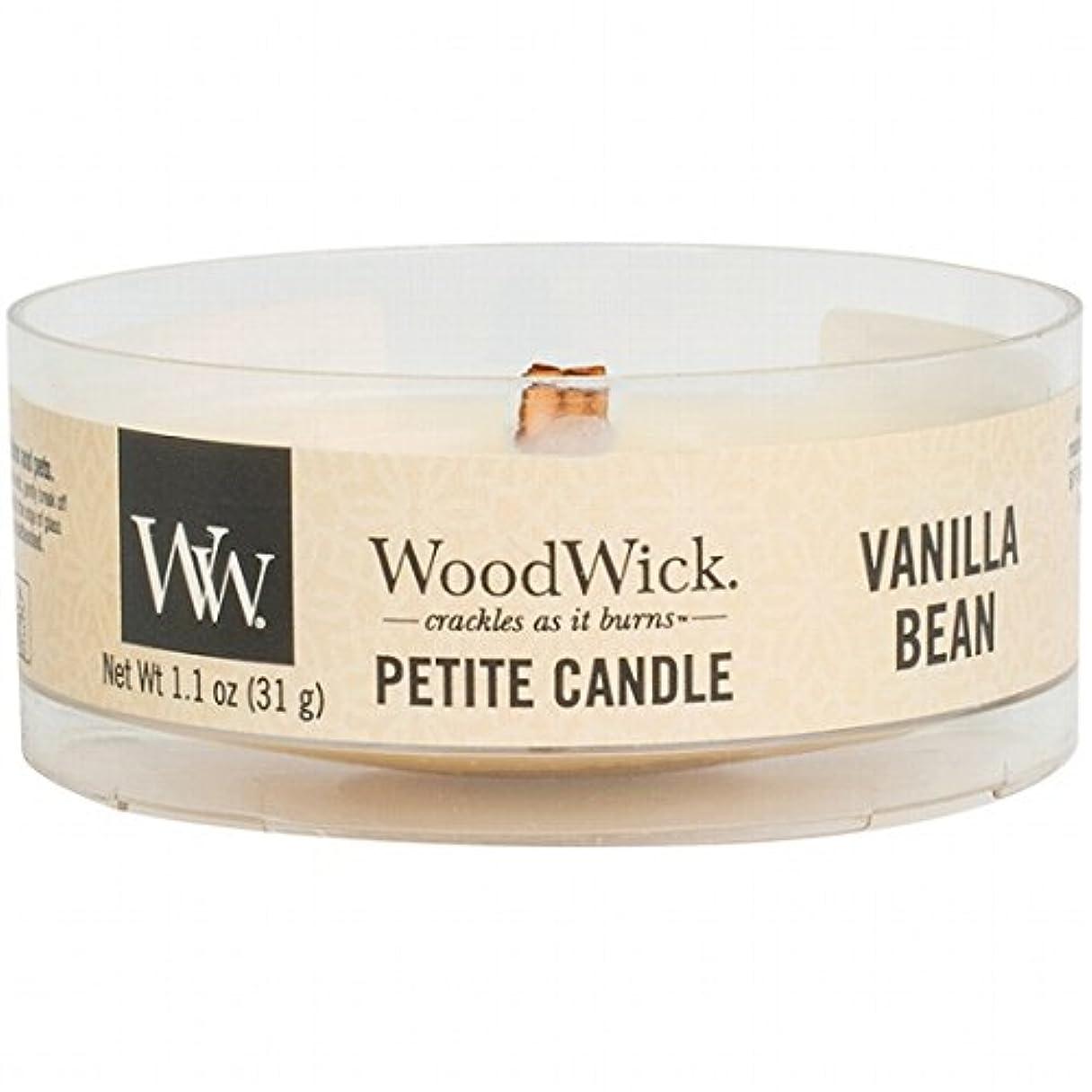 ただ防腐剤長方形WoodWick(ウッドウィック) プチキャンドル 「 バニラビーン 」(WW9030518)