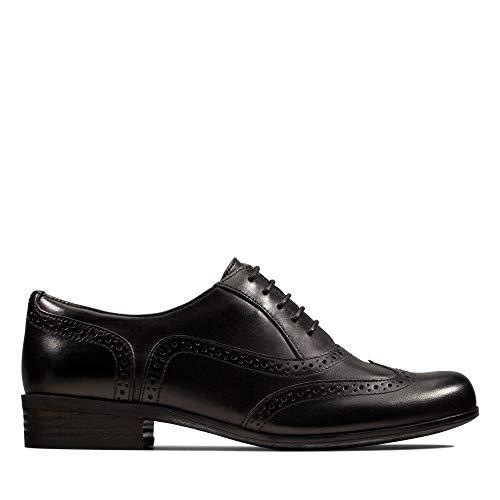 Clarks Damen Hamble Oak Schnürhalbschuhe, Schwarz (Black Leather), 38 EU