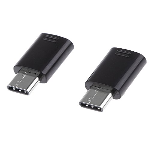 MERIGLARE Conector Macho USB Tipo C de 2 Piezas a Adaptador Convertidor OTG Hembra Micro USB