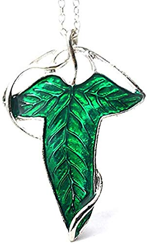 ELVEN LEAF BROOCH Necklace - LORT - Lord Of The Rings Hobbit Frodo Aragon Necklace Pendant