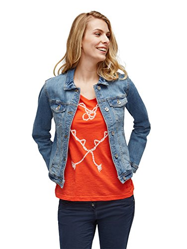 TOM TAILOR Damen Classic Jeansjacke, Blau (Stone Blue Denim 1095), Medium