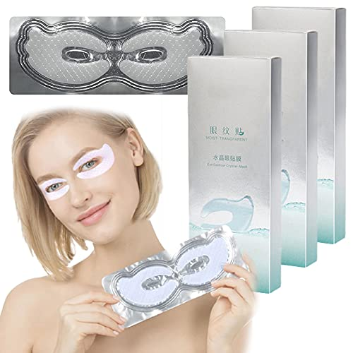Collagen Eye Mask, Eye Gel Pads, Firming Eye Mask, Collagen Eye Patches for Eye Moisturizing, Dark Circles, Wrinkles, Fine Lines, Under Eye Bags (3 Box)