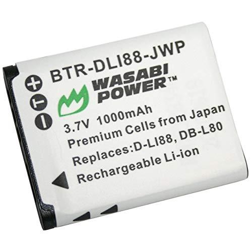 Wasabi Power バッテリー サンヨーDB-L80、DB-L80AU、Sanyo VPC-CA100、VPC-CA102、VPC-CG10、VPC-CG20、VPC-CG21、VPC-CG100、VPC-CG102、VPC-CS1、VPC-GH1、VPC-GH1、VPC-GH1用 2, VPC-GH3、VPC-GH4、VPC-PD1、VPC-PD2。