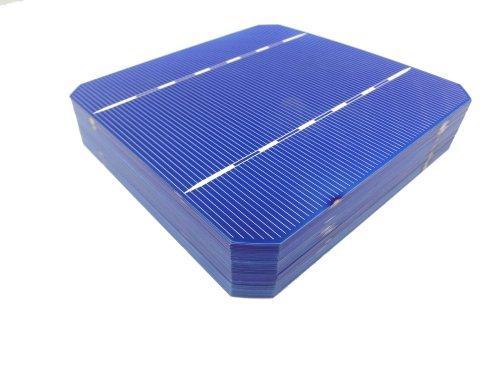 MISOL 100 pcs of Mono Solar Cell 5x5 2.8w, GRADE A, monocrystalline cell, DIY solar panel, for DIY solar module/cellules solaires monocristallines Pour Panneau solaire/module solaire