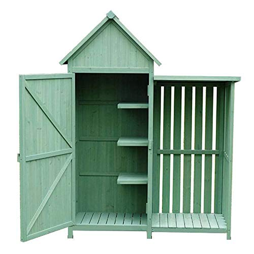 ZHOUAICHENG Gartenschrank Gartenschuppen Wasserdichter Sonnenschutz-Werkzeugschrank Balkon-Aufbewahrungsbox Im Europäischen Stil 136 * 54,5 * 176 cm