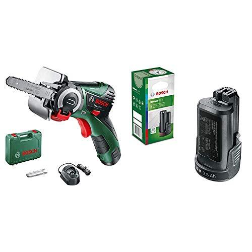 Bosch 06033C9000 Sega Easycut 12, 12 V, Verde + DIY Swing batteria (Ioni di Litio, 2,5AH), nero, 1600A00H3D 0 wattsW, 12 voltsV