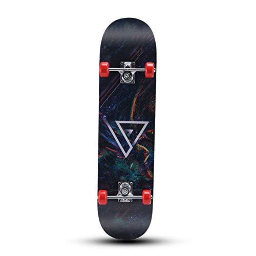 Yangyang Skateboard Completo,Skateboard 7 Layers Decks Tabla de Skate Completa Maple Wood Longboards para Adolescentes Adultos Principiantes Niñas Niños